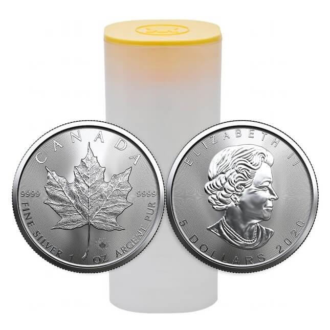 1 Oz Silver Canadian Maple Leaf Coin