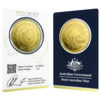 Buy Royal Australian Mint Kangaroo 1oz 9999 Gold Coin