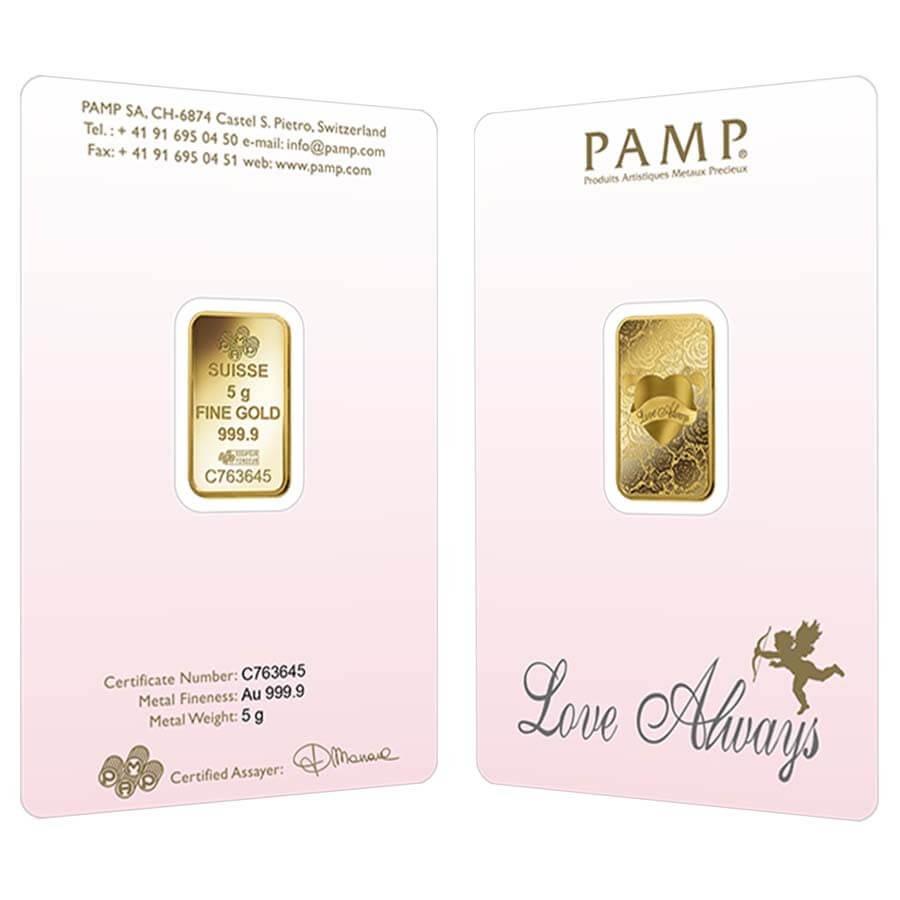 5 Gram Pamp Suisse Love Always Gold Bar Malaysia Bullion