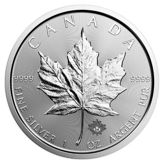 1 oz Canadian Silver Maple Leaf Coin (2017)