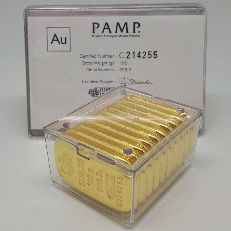 buy pamp gold bar 100g at wholesale price